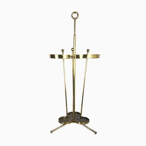 Large Hollywood Regency Brass Umbrella Stand, 1950s