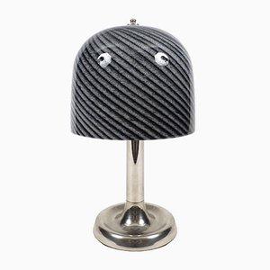 Lámpara de mesa holandesa de vidrio y metal, años 60