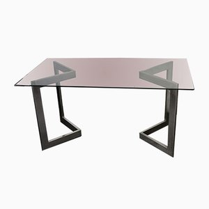 Steel & Glass Table, 1970s