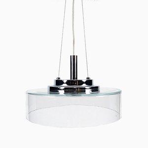Lámpara colgante italiana de vidrio, años 80