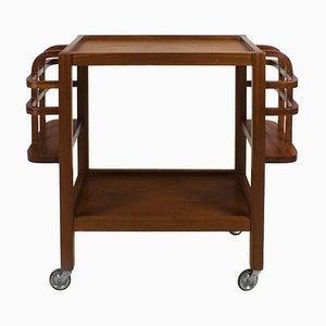 French Mahogany Bar Cart, 1940s
