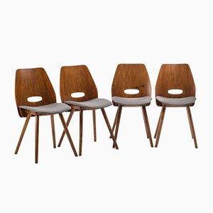 Vintage Stühle von Tatra, 4er Set