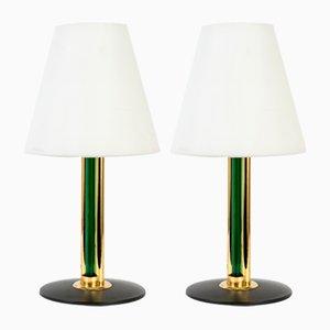 Vintage Tischlampen aus Muranoglas mit Schirmen aus Opalglas von Cenedese, 2er Set