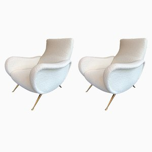 Italian Saluzzo Armchairs by Carlo Monti for CMG, 1950s, Set of 2