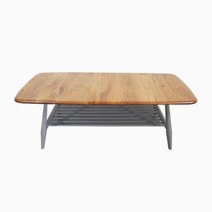 Table Basse Porte-Échelle Vintage Grise par Lucian Ercolani pour Ercol