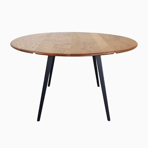 Mesa de comedor abatible redonda de Lucian Ercolani para Ercol, años 60