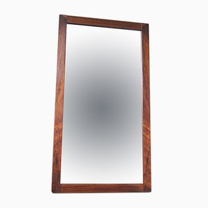 Large Minimalist Rio Rosewood Mirror from AB Nybrofabriken Froseke, 1960s