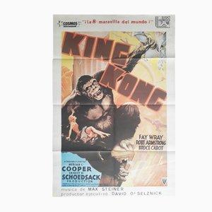 Póster vintage de la película King Kong, 1982