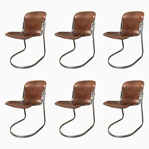 Vintage Esszimmerstühle von Willy Rizzo für Cidue, 1970er, 6er Set
