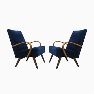 Art Deco Armchairs from Ton, 1960s, Set of 2