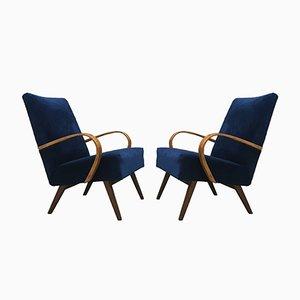 Art Deco Retro Stühle von Ton, 1960er, 2er Set