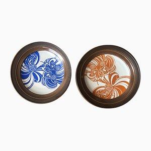 Piatti vintage in ceramica di John Chipperfield, anni '70, set di 2