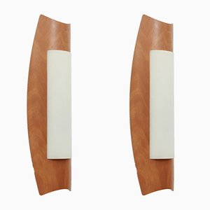 Large Scandinavian Wall Sconces, 1970s, Set of 2