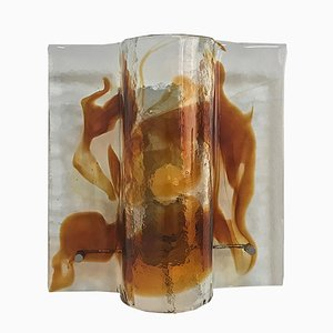 Square Murano Glass Sconce from Mazzega, 1960s