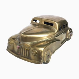 Art Deco Tabakbox aus Messing von Betel Motor Car, 1930er