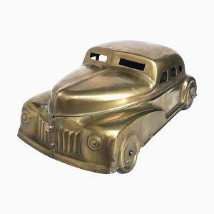 Tabaquera Art Déco de latón de Betel Motor Car, años 30