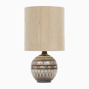 Lampada da tavolo grande in ceramica, anni '70