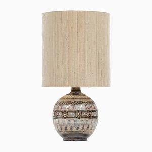 Lámpara de mesa grande de cerámica, años 70