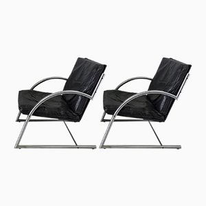 Des Lounge Chairs by Gerard van den Berg for Rohé Noordwolde, 1980s, Set of 2