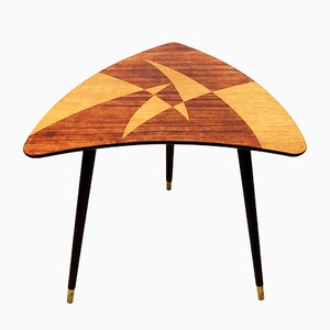 Mid-Century Swedish Triangular Side Table, 1950s
