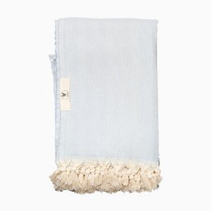 Sky Blue Le Zig Anaplaid Blanket by Wild Heart Free Soul