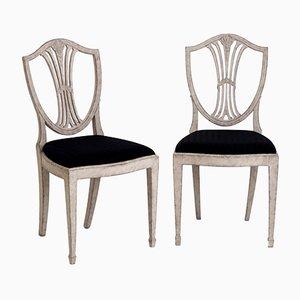 Antike gustavianische Stühle, 16er Set