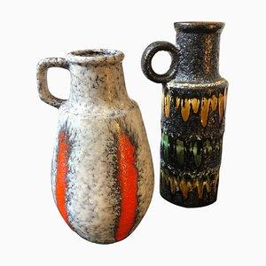 Deutsche Lava Krüge von Scheurich Keramik, 1970er, 2er Set