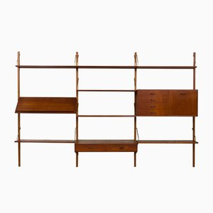 Vintage Teak Wall Unit Desk by Hansen & Guldborg
