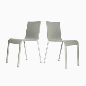 Minimalistische Esszimmerstühle von Maarten Van Severen für Vitra, 1998, 2er Set