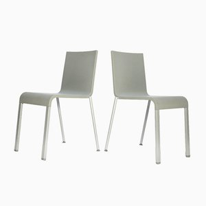 Sedie da pranzo minimaliste in poliuretano di Maarten Van Severen per Vitra, 1998, set di 2