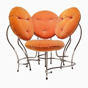 Club chair A Kind Of Hugo placcato in cromo di Rob Eckhardt, 1989