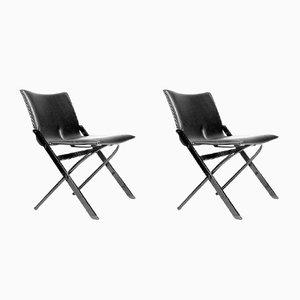 Sedie pieghevoli di Yaacov Kaufman per Tecno, 1987, set di 2