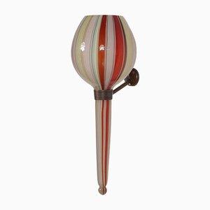 Lámpara de pared italiana con armadura de latón, años 50