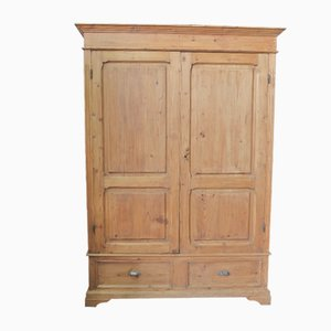 Antique Italian Fir Wardrobe