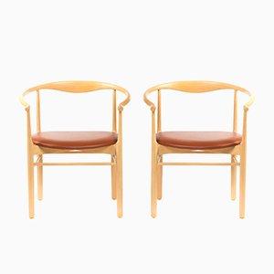 Dänische Vintage Esszimmerstühle aus Buche, 1960er, 2er Set