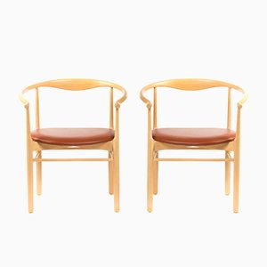 Vintage Danish Beech Dining Chairs, 1960s, Set of 2