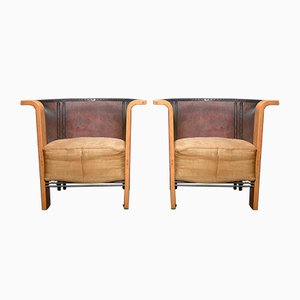 Armchairs by Frans Van Praet for Belgo Chrom / Dewulf Selection, 1980s, Set of 2