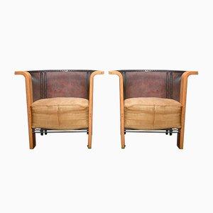 Armlehnstühle von Frans Van Praet für Belgo Chrom / Dewulf Selection, 1980er, 2er Set