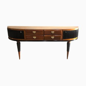 Art Deco Italian Console Table with Drawers