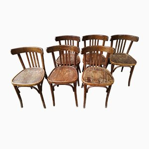 Mid-Century Bistro Chairs, Set of 6