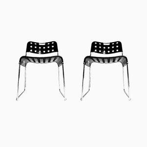 Stapelbare Omkstak Esszimmerstühle von Rodney Kinsman für Bieffeplast, 1970er, 2er Set