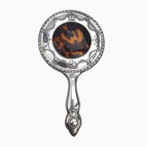 Antique Solid Silver Hand Mirror,1913