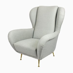 Mid-Century Italian Winged Armchair from I.S.A., 1950s