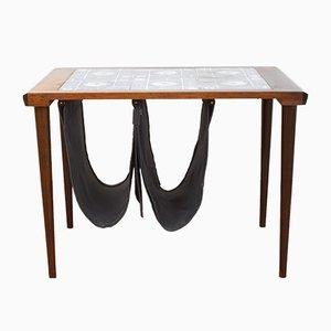 Table d'Appoint Mid-Century en Palissandre avec Porte-Revues, Danemark, 1960s