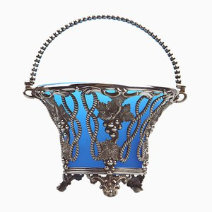 19th Century Silver Plated Sugar Basket