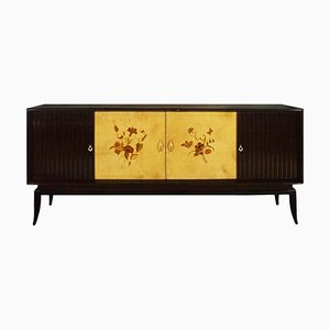 Italian Sideboard with Marquetry, 1940s