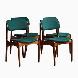 Esszimmerstühle von Erik Buch für O.D. Møbler, 1960er, 4er Set