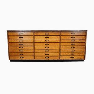 Mueble de farmacia alemán grande de pino, años 50