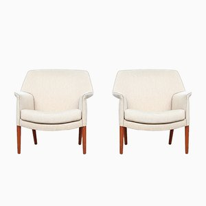 Lounge Chairs by Aksel Bender Madsen & Ejner Larsen for Fritz Hansen, 1950s, Set of 2