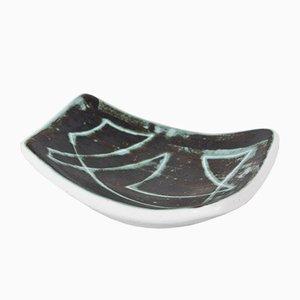 Plato francés Mid-Century de cerámica